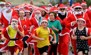 Christmas run in London
